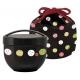 Round Lunch bowl Bento Box 2 tier Rabbit Black Set