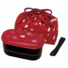 Japanese Bento Lunch Box Designer Set Slim Red Rabbit