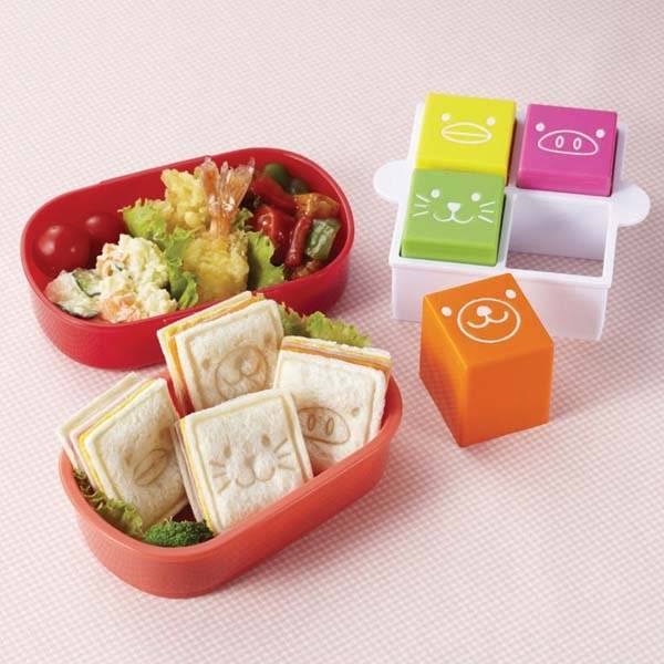 japanese bento sandwich cutter and stamp square for deco cutter. Black Bedroom Furniture Sets. Home Design Ideas