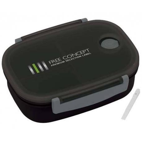 3 Sections Vacuum Bento Lunch Box 800ml Black