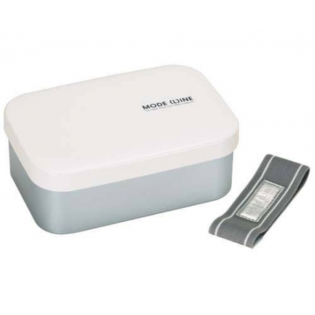 1.1L Aluminum Bento Lunch Box with Divider White