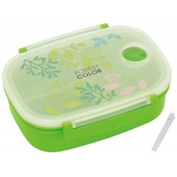 3 Sections Vacuum Airtight Bento Lunch Box 600ml Green Forest