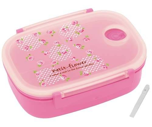 3 sections vacuum airtight bento lunch box 600ml pink rose for ben. Black Bedroom Furniture Sets. Home Design Ideas