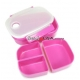 3 Sections Vacuum Bento Lunch Box 800ml Pink