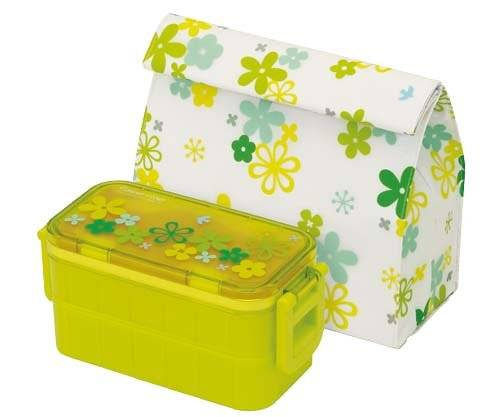 insulated bag ice pack japanese 2 tier bento lunch box flower set g. Black Bedroom Furniture Sets. Home Design Ideas