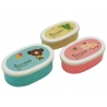 Microwavable Bento Box Lunch Box 3 Bear Frog Pig Container Panda
