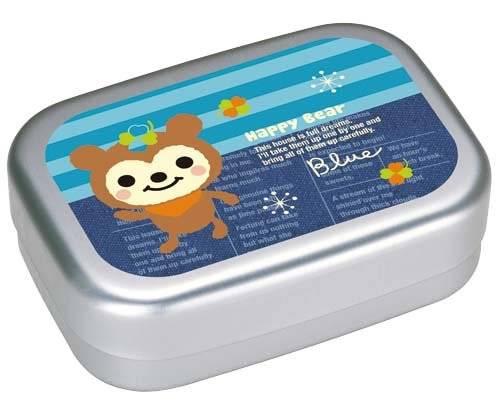 aluminum kids bento lunch box fuzzy bear for bento box all. Black Bedroom Furniture Sets. Home Design Ideas