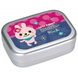 Aluminum Kids Bento Lunch Box Cute Pink Rabbit