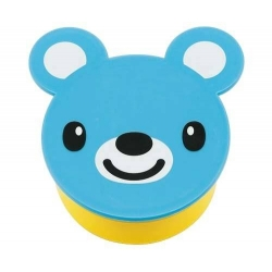 Japanese Small Bento Box Snack Blue Bear 190 ml