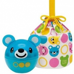 Japanese 2 Tier Bento Food Container Ball Blue Bear set