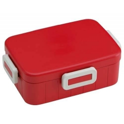 4 Lock 650ml Bento Box Easy to Open Simple Red