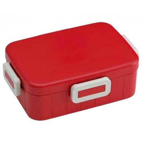 4 Lock 650ml Bento Box Simple Red