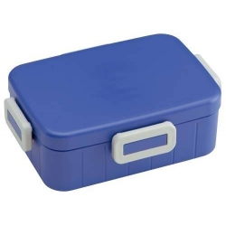 4 Lock 650ml Bento Box Easy to Open Simple Blue