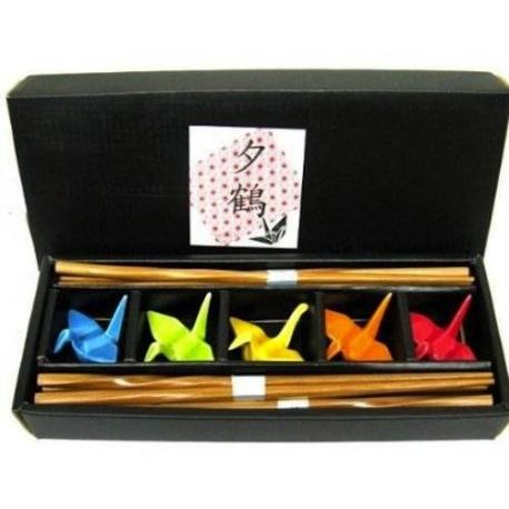Family 5 piece Crane Chopstick Set