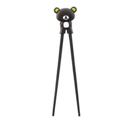 Japanese Assisted Chopsticks 3D Dark Brown Bear