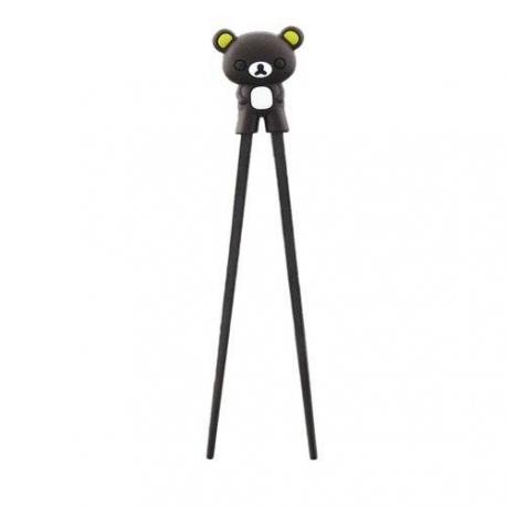 Japanese Assisted Chopsticks 3D Dark Brown Bear