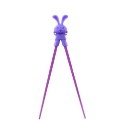 Japanese Assisted Chopsticks Purple Silicone Rabbit