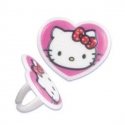 Food Decorating Party Ring Topper Hello Kitty Heart