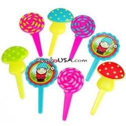 Food Decorating Pick Mushroom Gnome Lollipop