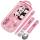 Japanese Bento Fork Spoon Chopsticks and Case 4 in 1 Panda Pink