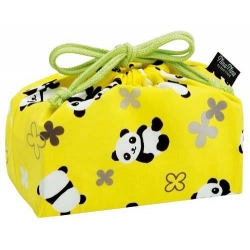 Bento Lunch Box Cloth Bag Panda Yellow