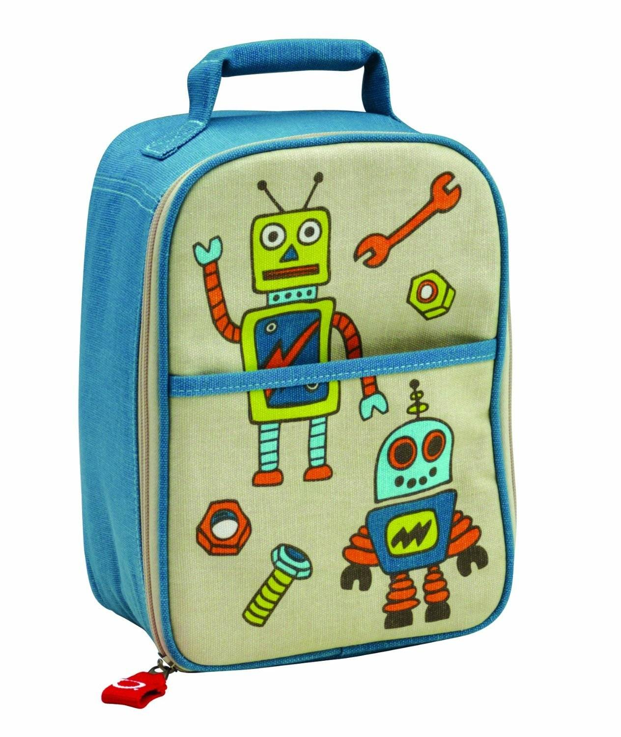 multi purpose bento lunch tote insulated bag retro robot for bent. Black Bedroom Furniture Sets. Home Design Ideas