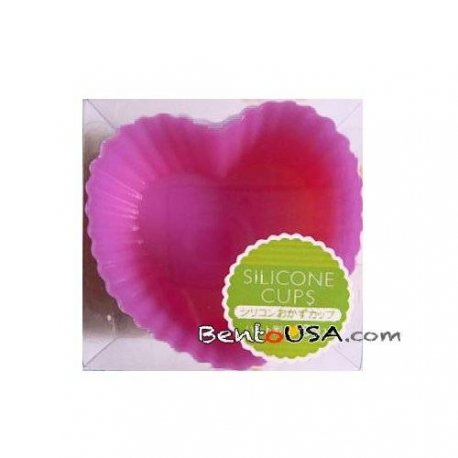 Japanese Bento Silicone Food Cup Heart 6P