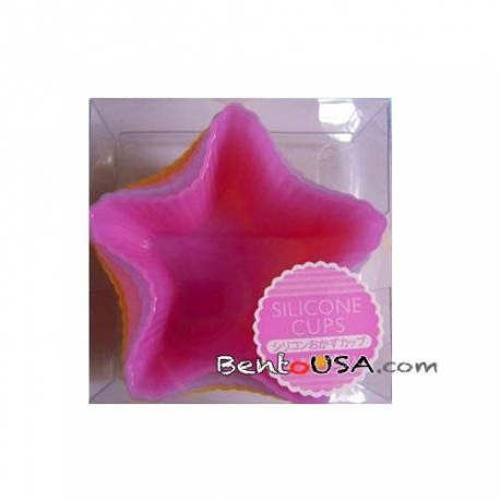 Japanese Bento Silicone Food Cup Star 6P Star