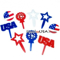 Food Decorating Pick and Ring Independent Day Star Firework