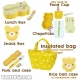 Bear Bento Lunch Box Set with Bag and Cutlery