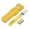Japanese Bento Fork with Case Bear and Strap