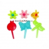 Food Decorating Pick and Ring Spring Flower Butterfly