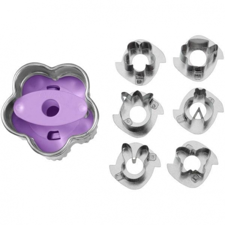 Bento Decoration 7 Pc Linzer Cut Outs Cookie Cutter Set Spring