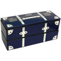 Japanese Microwave Safe 2-tier Bento Box Navy Blue