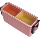 Section Bento Box Lunch Box Set Slim with Silicone Cups