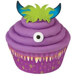 Cupcake Decorating Kit Baking Cup Pick Icing Monster