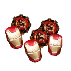 Food Decorating Party Ring Iron Man 8 pieces