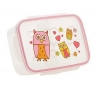 Good Lunch Box 3 Compartment Divided Lunch Container Hoot