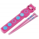 Japanese Bento Chopsticks with Case and Strap Piggy