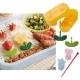 Japanese Bento Deco Food Pick with Weiner Ham Cutter Set