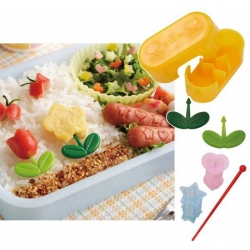 Japanese Bento Deco Food Pick with Weiner Ham Cutter Set