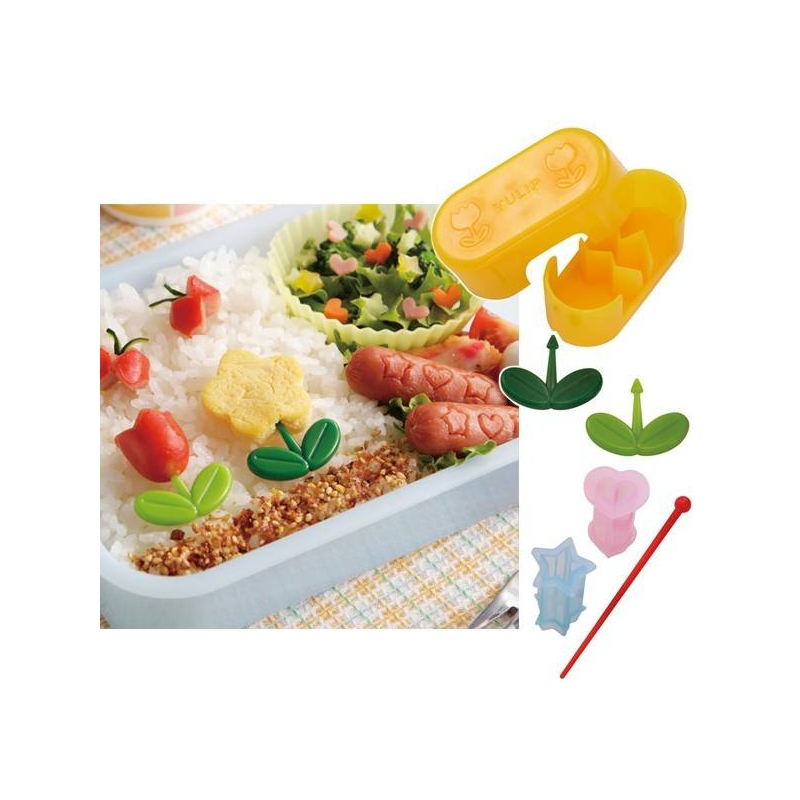 Japanese bento deco food pick with sausage wiener ham cutter set f - Deco snack ...