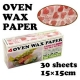 Heart Designed Wax Paper Sandwich Wrapping Sheets 30 pcs