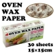 Bear Designed Wax Paper Sandwich Wrapping Sheets 30 pcs