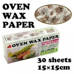 Bear Designed Wax Paper Sandwich Wrapping Sheets 30 pcs