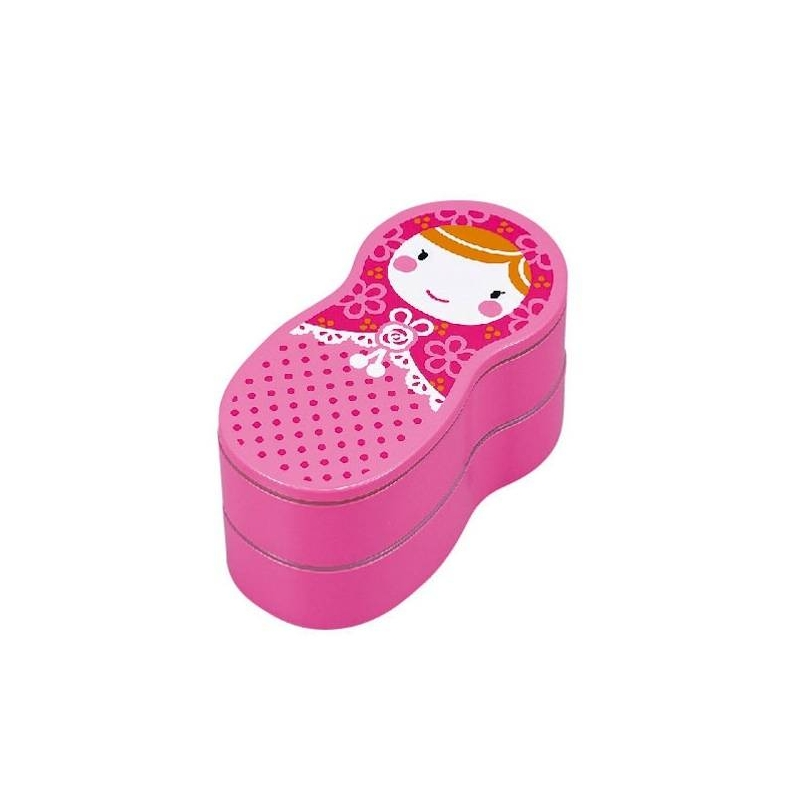 japanese bento box lunch box matryoshka doll pink for out. Black Bedroom Furniture Sets. Home Design Ideas