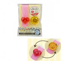 Japanese Bento Box Elastic Silicone Band Changeable Jewel top
