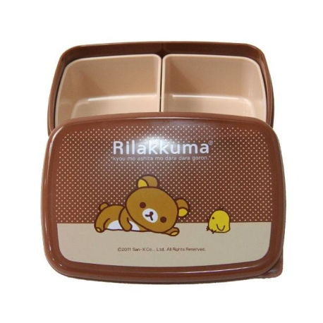 rilakkuma japanese bento lunch box with removable sections for bea. Black Bedroom Furniture Sets. Home Design Ideas