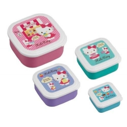 Microwavable Nested Container 4pcs Hello Kitty