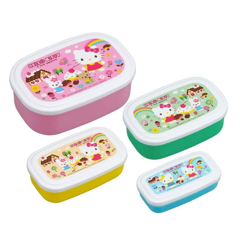 microwavable nested food container 4 bento boxes hello. Black Bedroom Furniture Sets. Home Design Ideas